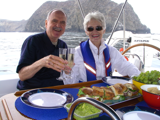 Let's have Lunch aboard the luxury yacht Sancerre
