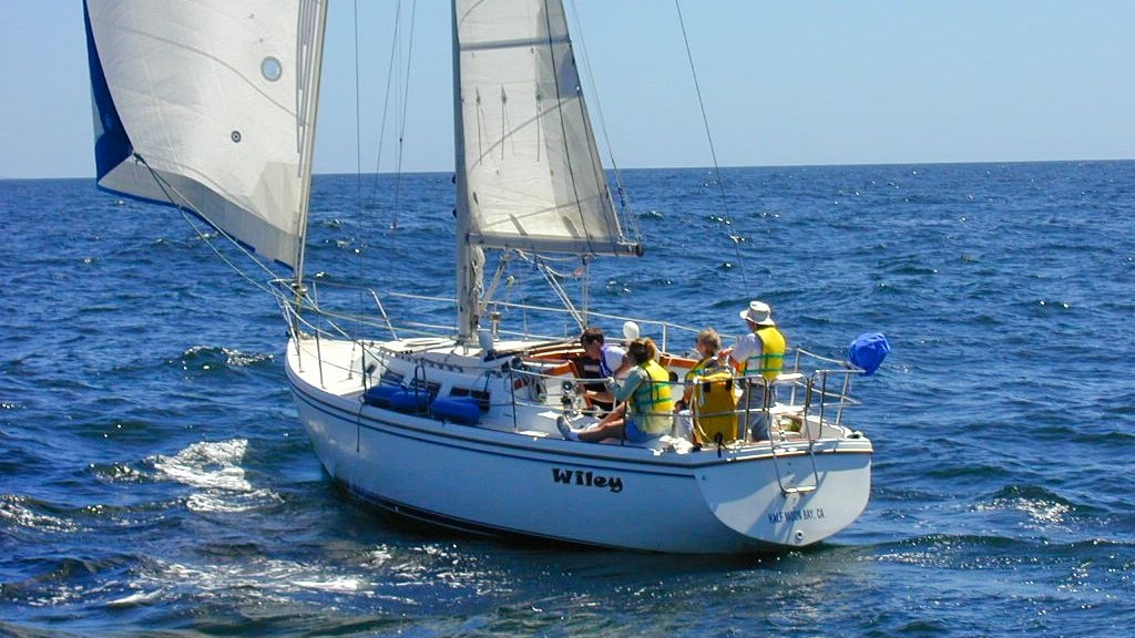 Sail Channel Islands crewed sailing charter by the day or by the hour