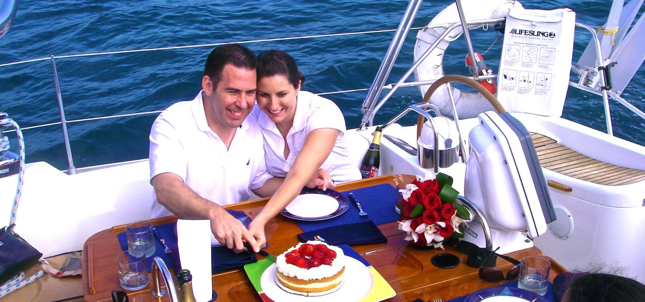 Jamie and Mike's wedding at sea