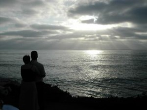 The beach at La Jolla is is perfect for a California wedding on the beach