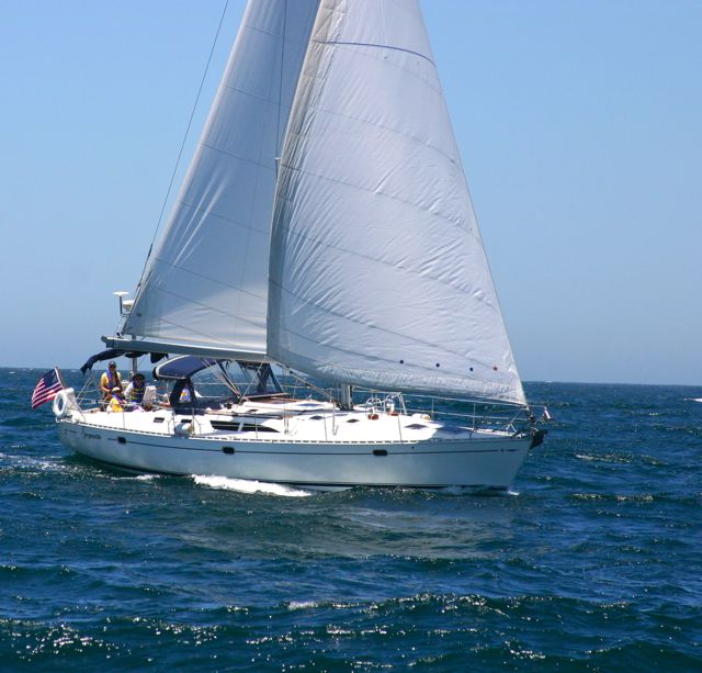 Sancerre is Sail Channel Islands luxury yacht, Capt. Dan commanding