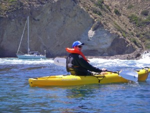 Sailing to Santa Cruz island Gunkholing and kayaking - great ways to explore our islands