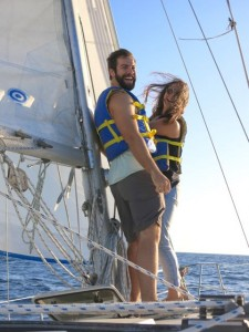 Wiley is ideal for a couple's sail to the island ... for the day or several days.