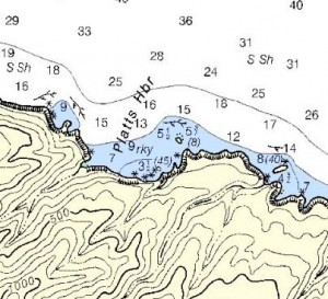 Any swell will come into the anchorage. Anchoring parallel to the western cliff will minimize roll