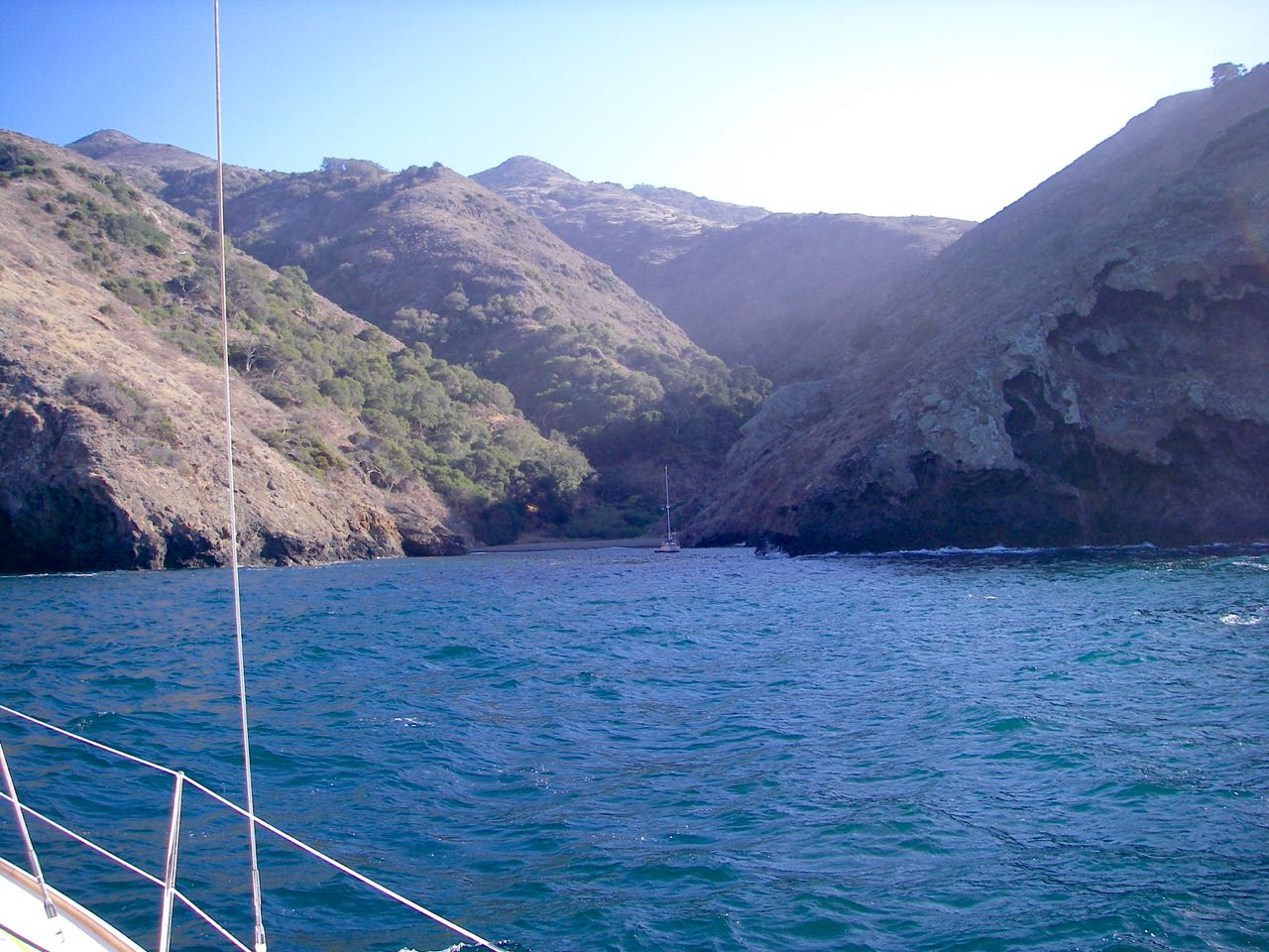 Sail to Ladys and Little Ladys anchorage on Santa Cruz Island with Capt. Dan Ryder and Sail Channel Islands