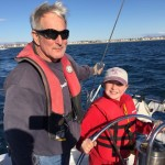 My granddaughter finally gets to sail with us. She just turned 12 and loves to drive Wiley and Sancerre.